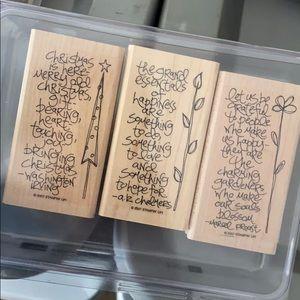 """NWOT Stampin up """"sidekick sayings"""" stamps set of 3"""